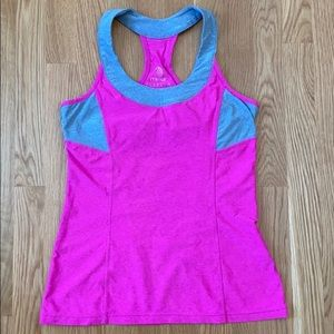 Pink and Gray Workout Tank